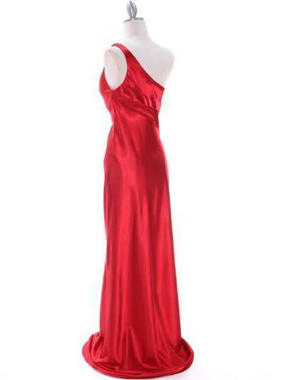 5234 Red Evening Dress - Red, Back View Medium