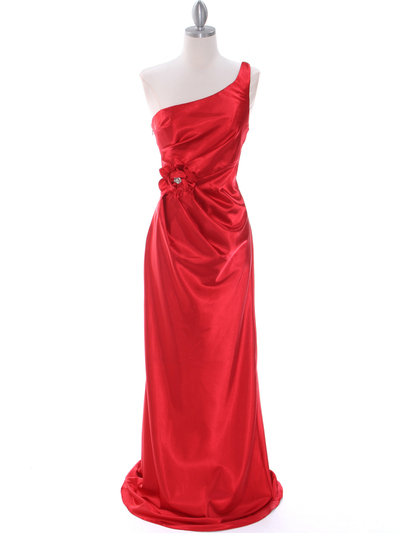 5234 Red Evening Dress - Red, Front View Medium
