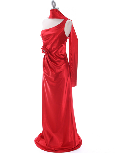 5234 Red Evening Dress - Red, Alt View Medium