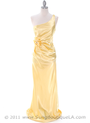 5234 Yellow Prom Dress, Yellow