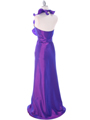 Purple Taffeta Evening Dress - Back Image