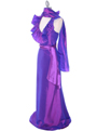 5237 Purple Taffeta Evening Dress - Purple, Alt View Thumbnail