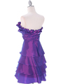 5239 Purple Homecoming Dress - Purple, Back View Thumbnail