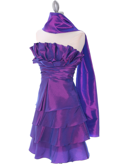5239 Purple Homecoming Dress - Purple, Alt View Medium