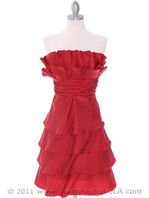 5239 Red Cocktail Dress, Red