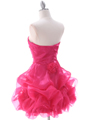 Hot Pink Short Prom Dress - Back Image