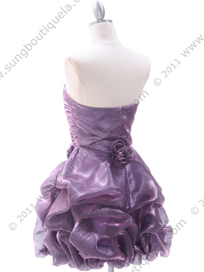 5240 Light Purple Homecoming Dress - Light Purple, Back View Medium