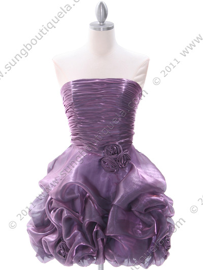 5240 Light Purple Homecoming Dress - Light Purple, Front View Medium