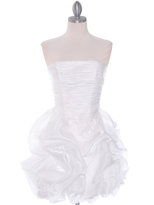 5240 Off White Graduation Dress, Off White