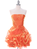 5240 Orange Short Prom Dress, Orange