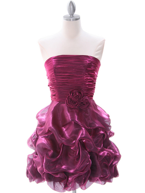 5240 Raspberry Cocktail Dress, Raspberry