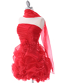 5240 Red Short Prom Dress - Red, Alt View Thumbnail