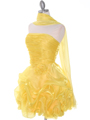 5240 Yellow Short Prom Dress - Yellow, Alt View Thumbnail