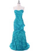 Jade Taffeta Prom Evening Dress