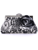 Black Lace Evening Bag