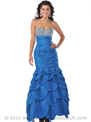 5848 Dark Turquoise Sequin Embellished Mermaid Style Prom Dress 251d97df2