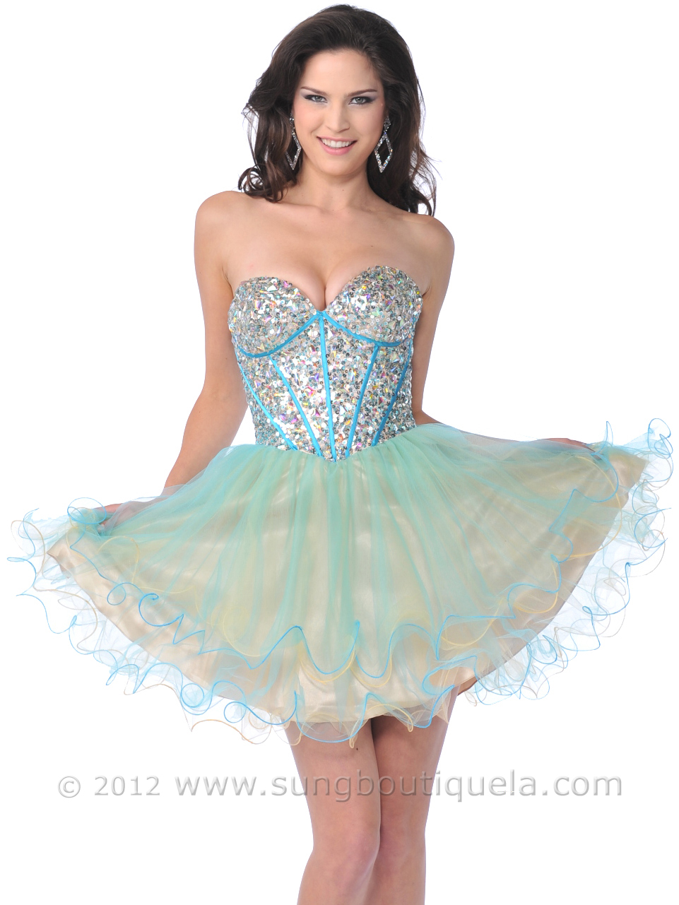 Corset Sequin Top Prom Dress | Sung Boutique L.A.