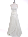 60638  Ivory Taffeta Beaded Evening Gown - Front Image