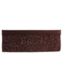 6130 Brown Evening Bag with Beads - Brown, Front View Thumbnail