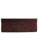 6130 Brown Evening Bag with Beads, Brown