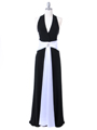 6217 Black Evening Dress - Black, Front View Thumbnail