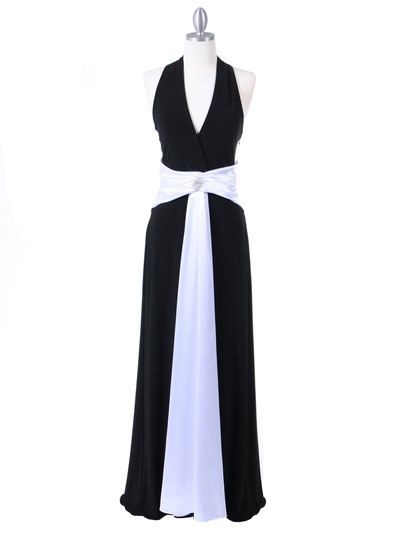 6217 Black Evening Dress - Black, Front View Medium