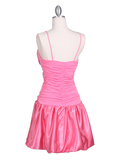 6224 Coral Party Bubble Dress - Coral, Back View Medium