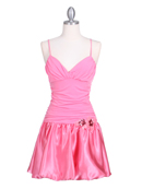 6224 Coral Party Bubble Dress, Coral