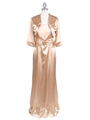 6249 Gold Charmeuse Evening Dress with Bolero Jacket