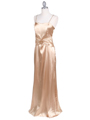 6249 Gold Charmeuse Evening Dress with Bolero Jacket - Gold, Alt View Thumbnail