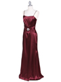6249 Wine Charmeuse Evening Dress with Bolero Jacket - Wine, Alt View Thumbnail