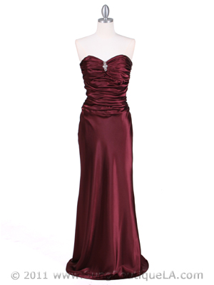 6251 Wine Evening Gown, Wine