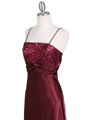 6265 Wine Sequins Evening Dress with Bolero Jacket - Wine, Alt View Thumbnail