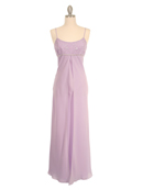 Lilac Empire Waist Evening Dress