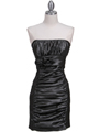 7016 Charcoal Taffeta Cocktail Dress