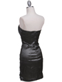 7016 Charcoal Taffeta Cocktail Dress - Charcoal, Back View Thumbnail