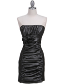7016 Charcoal Taffeta Cocktail Dress, Charcoal
