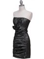7016 Charcoal Taffeta Cocktail Dress - Charcoal, Alt View Thumbnail