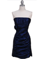 7016 Royal Blue Taffeta Homecoming Dress