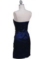 7016 Royal Blue Taffeta Homecoming Dress - Royal Blue, Back View Thumbnail