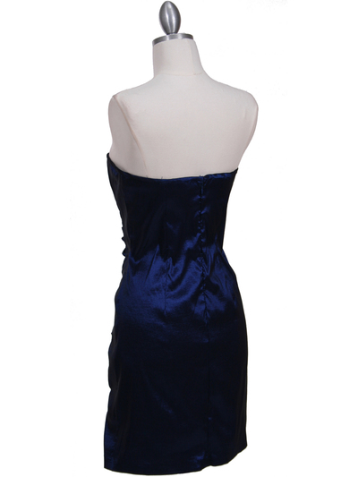 7016 Royal Blue Taffeta Homecoming Dress - Royal Blue, Back View Medium
