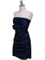 7016 Royal Blue Taffeta Homecoming Dress - Royal Blue, Alt View Thumbnail