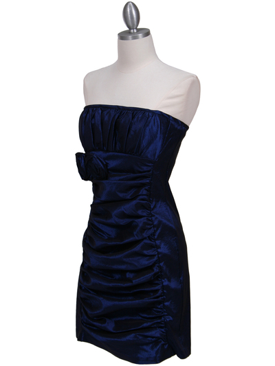 7016 Royal Blue Taffeta Homecoming Dress - Royal Blue, Alt View Medium