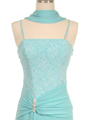 7033 Aqua Glitter Evening Dress - Aqua, Alt View Thumbnail