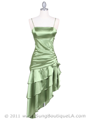 7051 Olive Cocktail Dress, Olive