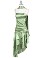 7051 Olive Cocktail Dress - Olive, Alt View Thumbnail