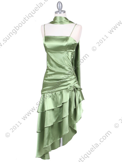 7051 Olive Cocktail Dress - Olive, Alt View Medium