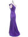 7098 Purple Taffeta Evening Dress - Purple, Back View Thumbnail