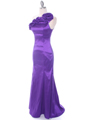 7098 Purple Taffeta Evening Dress - Purple, Alt View Thumbnail