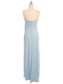 070 Baby Blue Chiffon Wrap Dress - Baby Blue, Back View Thumbnail